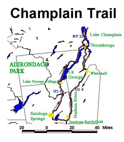 The Lake Champlain Lake George Loop - Us map lake champlain