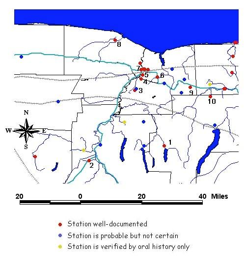 Underground Railroad New York Map.Ugrr Lessons