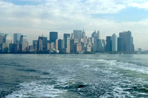 View of Lower Manhattan from the Staten Island Ferry
