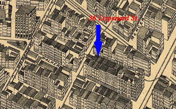 Map of Tribeca around time David Ruggles was a station master there ...
