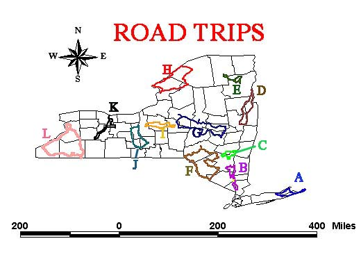 The Best Road Trips In New York - Road map of new york state