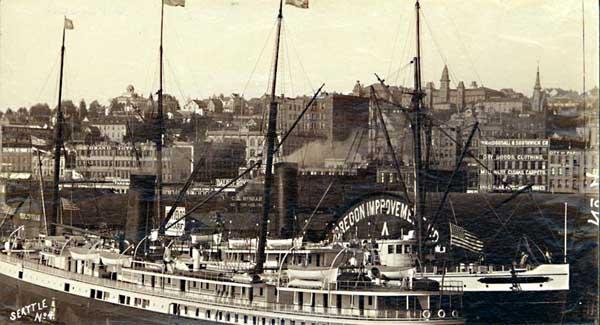 Historic photographs seattle waterfront 1890 lumbering near portland